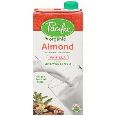 Pacific Organic Almond Vanilla Unsweetened Non-Dairy Beverage