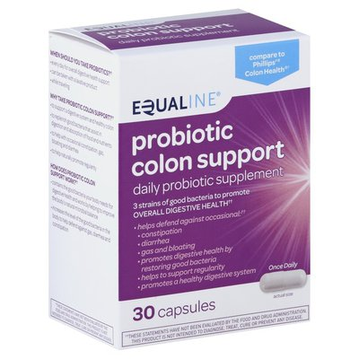 Equaline 4-in-1 symptom defense probiotic colon support daily probiotic Dietary supplement capsules