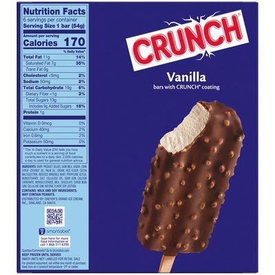 Crunch Vanilla Frozen Dairy Dessert Bars