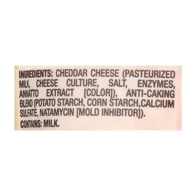 Food Lion Fancy Shredded Cheese, Mild Cheddar