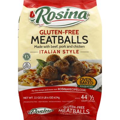 Rosina Meatballs, Gluten-Free, Italian Style