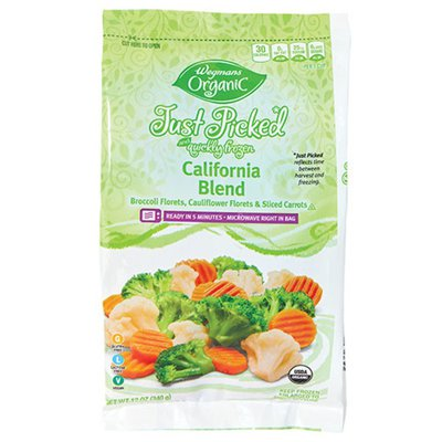 Wegmans Organic Food You Feel Good About Just Picked and Quickly Frozen California Blend
