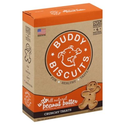 Buddy Biscuits Treats for Dogs, Peanut Butter, Oven Baked