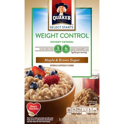 Quaker Oatmeal, Instant, Maple & Brown Sugar