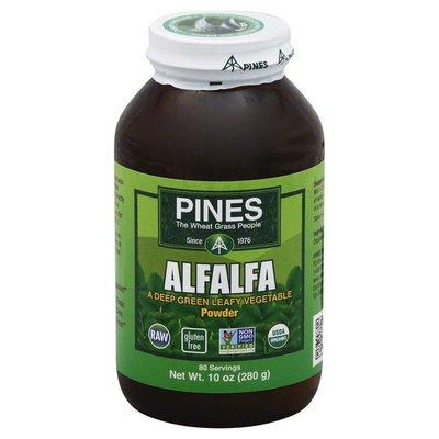 Pines Alfalfa, Powder, Gluten Free, Organic, Bottle