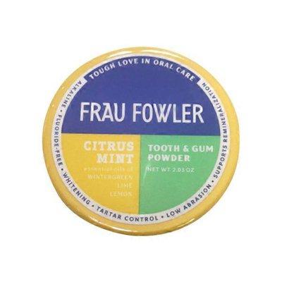 Frau Fowler Tooth & Gum Powder, Citrus Mint