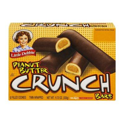 Little Debbie Cookie Bars, Crunch, Peanut Butter