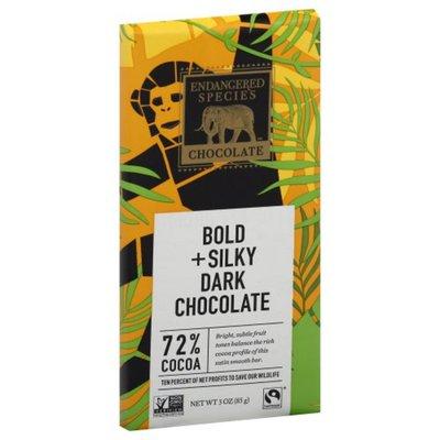 Endangered Species Dark Chocolate, Bold + Silky, 72% Cocoa