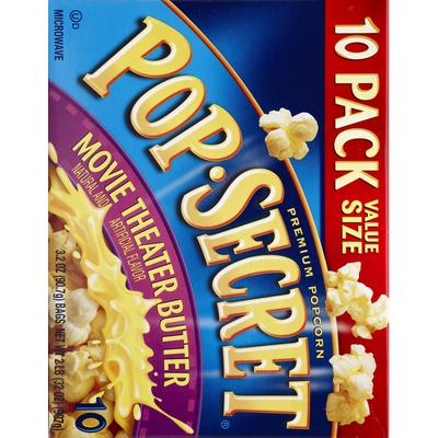 Pop Secret Popcorn, Premium, Movie Theater Butter, Value Size