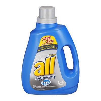 All 2X Ultra High Efficiency Detergent - 64 Loads