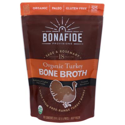 Bonafide Provisions Organic Turkey Bone Broth - Free Range, FROZEN