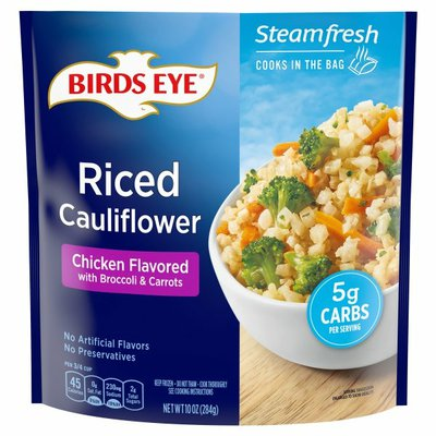 Birds Eye Riced Cauliflower, Chicken Flavored with Broccoli & Carrots