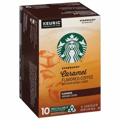 Starbucks Flavored K-Cup Coffee Pods — Caramel for Keurig Brewers