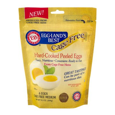Eggland's Best Cage Free Hard-Cooked Peeled Eggs - 6 CT