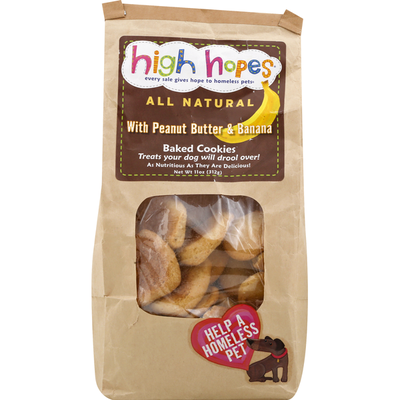 High Hopes Baked Cookies, with Peanut Butter & Banana