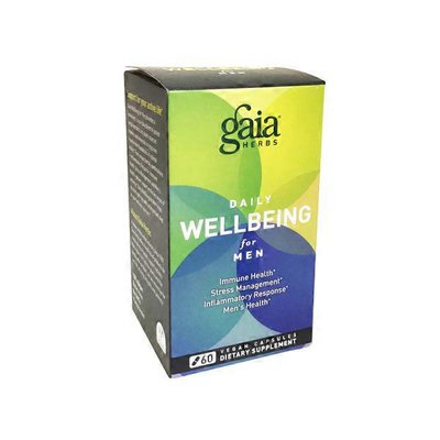 Gaia Herbs Daily Wellbeing for Men Dietary Supplement