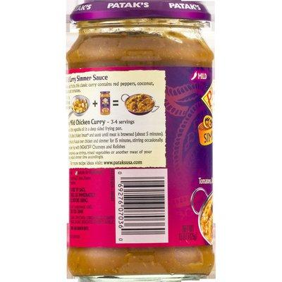 Patak's Simmer Sauce, Mild Curry, Mild