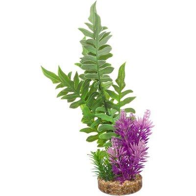 Imagitarium Green & Purple Fiesta Seagrass Plastic Aquarium Plant