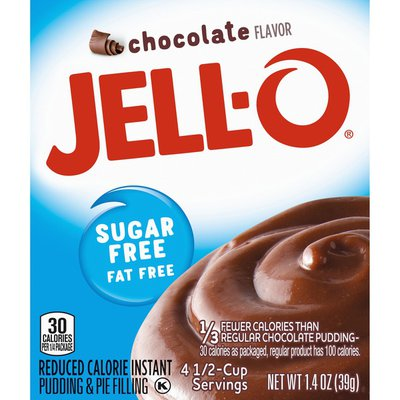 Jell-O Chocolate Sugar Free & Fat Free Instant Pudding & Pie Filling Mix