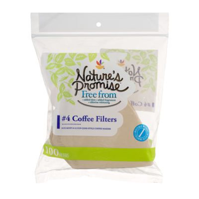 Nature's Promise 4 Coffee Filters - 100 CT
