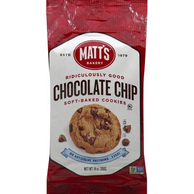 Matt's Cookies, Soft-Baked, Chocolate Chip