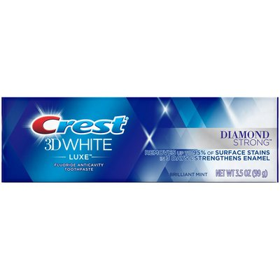 Crest 3D White Luxe Diamond Strong Whitening Toothpaste, Brilliant Mint