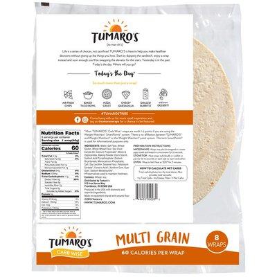 Tumaro's Multi Grain Carb Wise Wraps