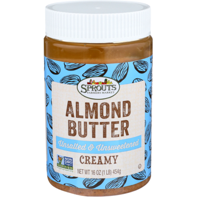 Sprouts Unsalted Unsweetened Creamy Almond Butter