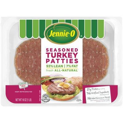 Jennie-O 93% Lean/7% Fat Seasoned Turkey Patties