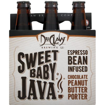 Duclaw Brewing Beer, Sweet Baby Java, Espresso Bean Infused Chocolate Peanut Butter Porter