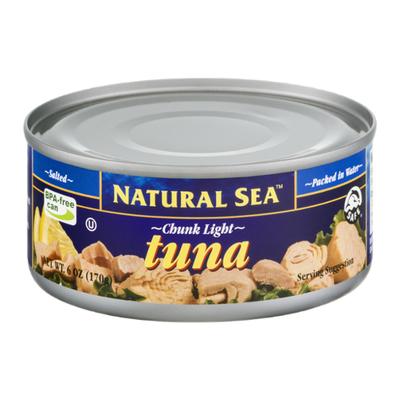 NATURAL SEA Wild Yellowfin Tuna, Salted, Chunk Light