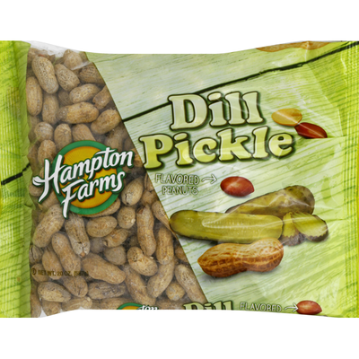 Hampton Farms Flavored Peanuts, Dill Pickle