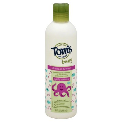 Tom's of Maine Shampoo & Wash, Lightly Scented