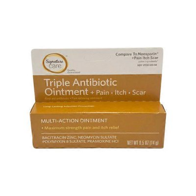 Signature Triple Antibiotic Ointment, + Pain Itch Scar