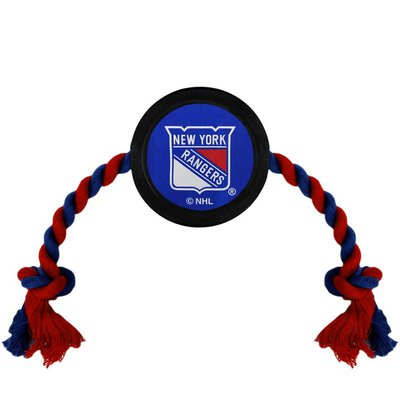 Pets First NHL New York Rangers Puck Toy for Dogs & Cats
