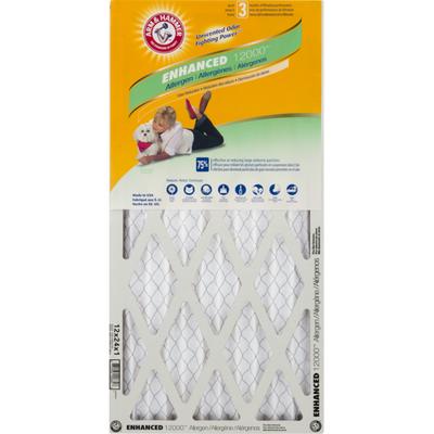 Arm & Hammer Air Filter, Allergen Plus Odor Reduction, Enhanced 12000, Box