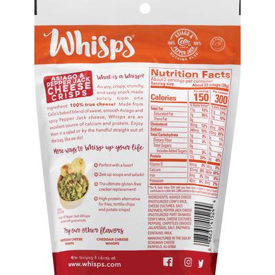 Whisps Cheese Crisps, Asiago & Pepper Jack