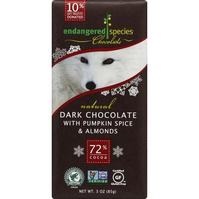 Endangered Species Dark Chocolate, with Pumpkin Spice & Almonds