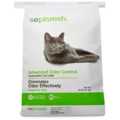 Sophresh Advanced Odor Control Scoopable Cat Litter Eliminates Odors Effectively Fragrance Free