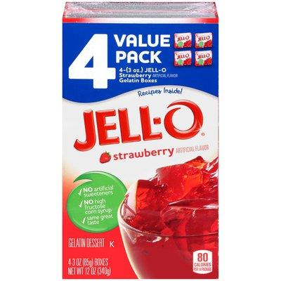 Jell-O Strawberry Gelatin Dessert Mix Value Pack
