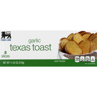 Food Lion Texas Toast, Garlic, Box
