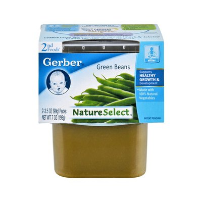 Gerber Nature Select 2nd Foods Green Beans - 2CT
