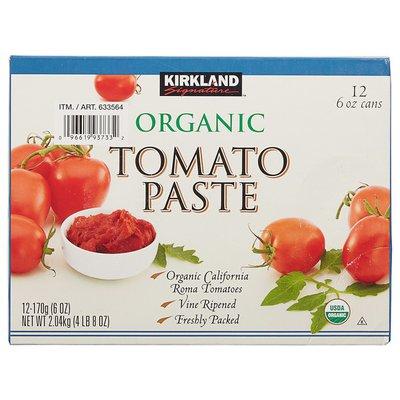Kirkland Signature Organic Tomato Paste, 12 x 6 oz