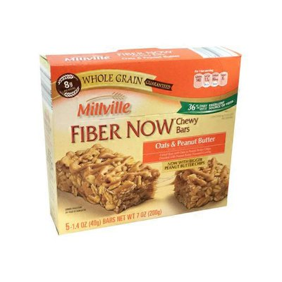 Millville Fiber Now Oats & Chocolate Fiber Now Chewy Bars