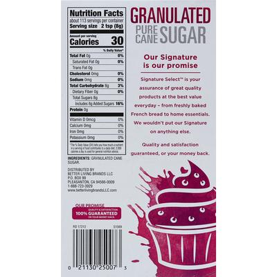 Signature Kitchens Sugar, Pure Cane, Granulated