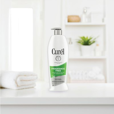 Curél Fragrance Free Hand and Body Lotion, Moisturizer for Dry Sensitive Skin, Restore Moisture
