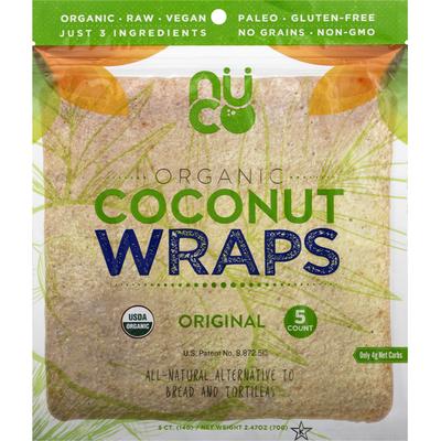 Nuco Coconut Wraps, Organic, Original