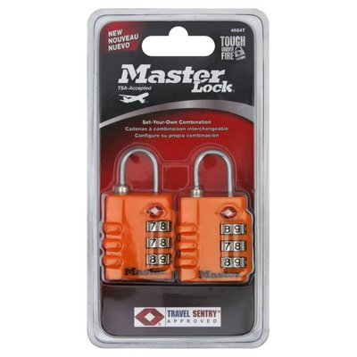 Master Lock Combination Padlocks, Set Your Own Combination, 2 Pack, Pink, Blister Pack
