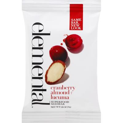 Elemental Superfood Seedbar, Cranberry Almond + Lucuma