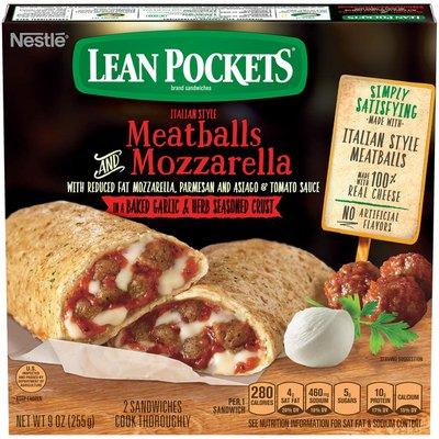 LEAN POCKETS Italian Style Meatballs and Mozzarella Frozen Sandwiches